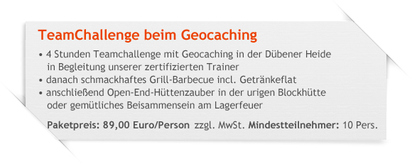 TeamChallenge beim Geocaching